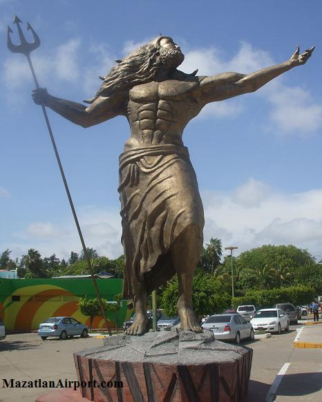 Statue outside of the Mazatlan Aquarium